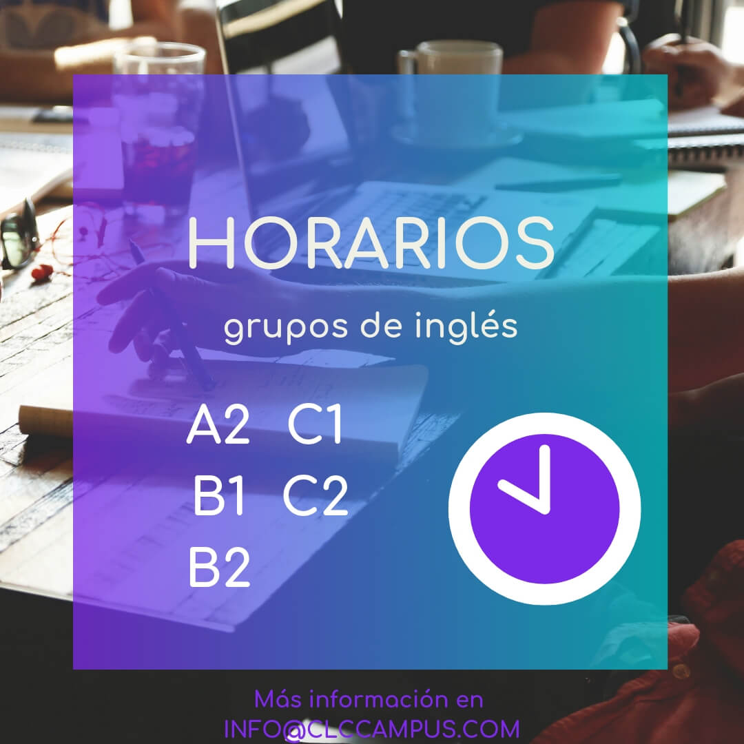 Horarios Inglés